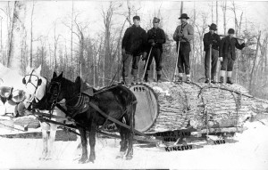 Harts Camp in 1910, a logging site in southern Grand Traverse County.