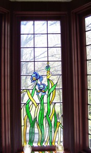 Unique details, such as the stained glass windows, sets the Stickney home apart from other local residences.