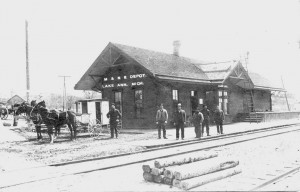 New Lake Ann depot, ca. 1892.