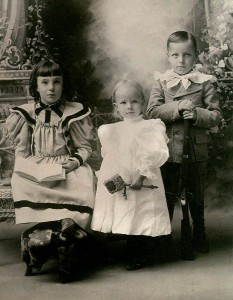 Claribel, Olive and William, children of Joseph and Rose Wilhelm.