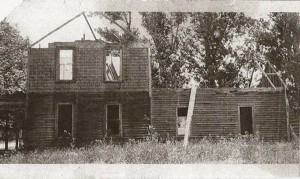 The shell of the Brautigam family home, mid-construction, where Eileen was raised on the corner of Fenton and George Streets in the village of Kingsley. Image courtesy of the author.