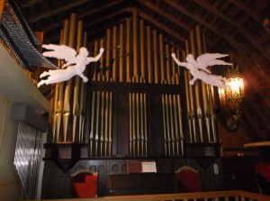 Estey pipe organ acquired in 1988 from St. Andrew's in Saginaw.