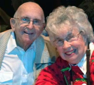 Katy and Ken Hedden, at Christmas-time 2012.