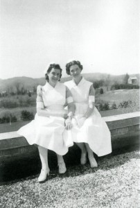 Frances V. Fall (Beattie) and classmate Fern Rinehart (Collins)