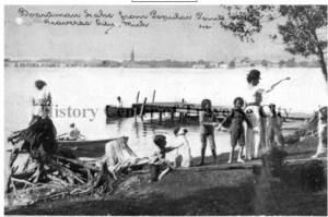 Photograph postcard courtesy of the History Center of Traverse City.