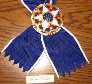 Bruce Catton's Presidential Medal of Freedom Award, on display at the Mills Community House. Photograph courtesy of the author.
