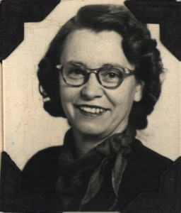 Lena Snyder, Kingsley teacher, 1947. Image courtesy of Floyd Webster Historical Photograph Collection, Kingsley Branch Library.