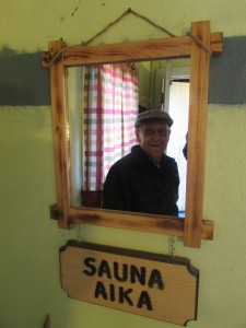 "Sauna Aika, or ""Sauna Time"" in Finnish. Portrait of Arthur Image courtesy of the author, Fall 2016."