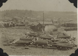 "Mayfield in 1901, when ""Pine was King."" Image courtesy of the Floyd Webster Historical Photograph Collection, Kingsley Branch Library."