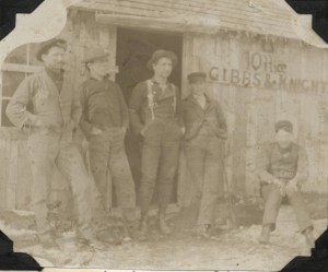These guys are ready to party, beer and barbecue-style. Gentlemen sitting outside the Gibbs and Knight Mill office at Mayfield, 1906. Image courtesy of the Floyd Webster Historical Photograph Collection, Kingsley Branch Library.