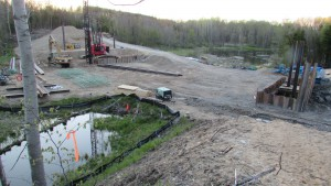 Deconstruction activities at Boardman Dam, May 2016. Image provided by the author.