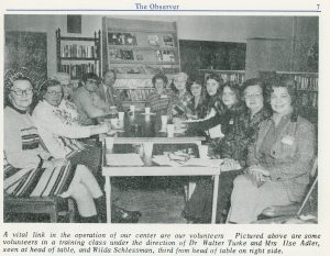 "From ""The Observer,"" 1973. Director Adler is sitting at the head of the table on the right."