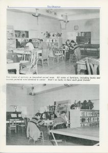 "From ""The Observer,"" 1973. Interior of the Traverse City Friendship Center."