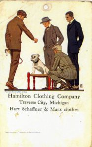 Hamilton's Clothing Company, advertisement, undated. From the Grand Traverse Pioneer and Historical Society Collection, 4636.