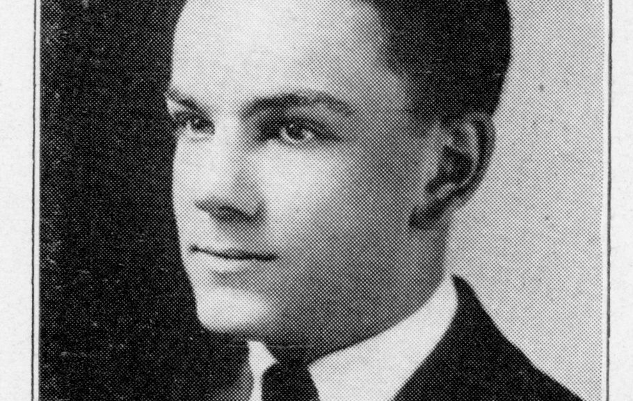 "Robert Carl Straub, 1921. From ""The Pines,"" Traverse City High School Yearbook, 1921, held at Traverse Area District Library."