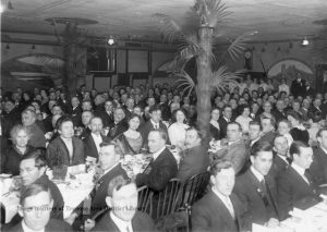Czech-Slovak Protective Society (C.S.P.S.) was a national Bohemian social club. Pictured here is a Christmas Party held in the Traverse City Hall, 1911. From the Grand Traverse Pioneer and Historical Society Collection, 1802.