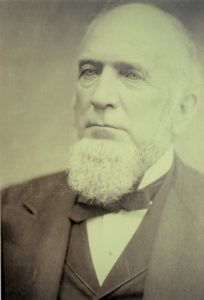 "Perry Hannah, ""Father of Traverse City,"" donated the Sixth Street property on which the City's Carnegie Library was built in 1905. Image courtesy of Marie Kulibert, TADL librarian/historian."