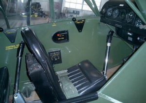 Interior of 1946 Piper Cub. This particular plane was purchased by actor Steve McQueen for his wife, Barbara. Image courtesy of Steve McQueen Online.
