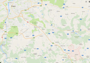 Village of Ondrejov, in relation to Prague, Checz Republic.