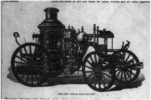 "Image of the ""Queen City No. 1"" Fire Engine, from the ""Grand Traverse Herald."""