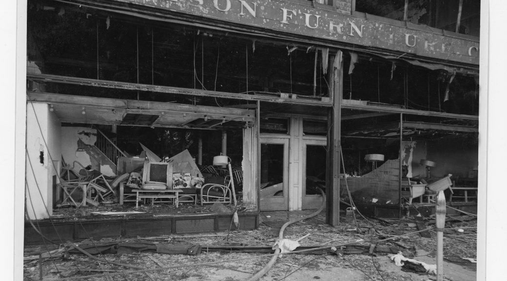 The Fire At Wilson Furniture Company 1955 Grand Traverse Journal